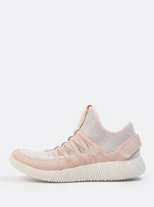 Laceless Sparkle Sneakers PINK