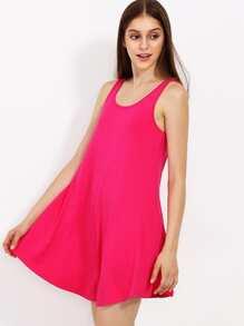 Hot Pink Swing Tank Dress