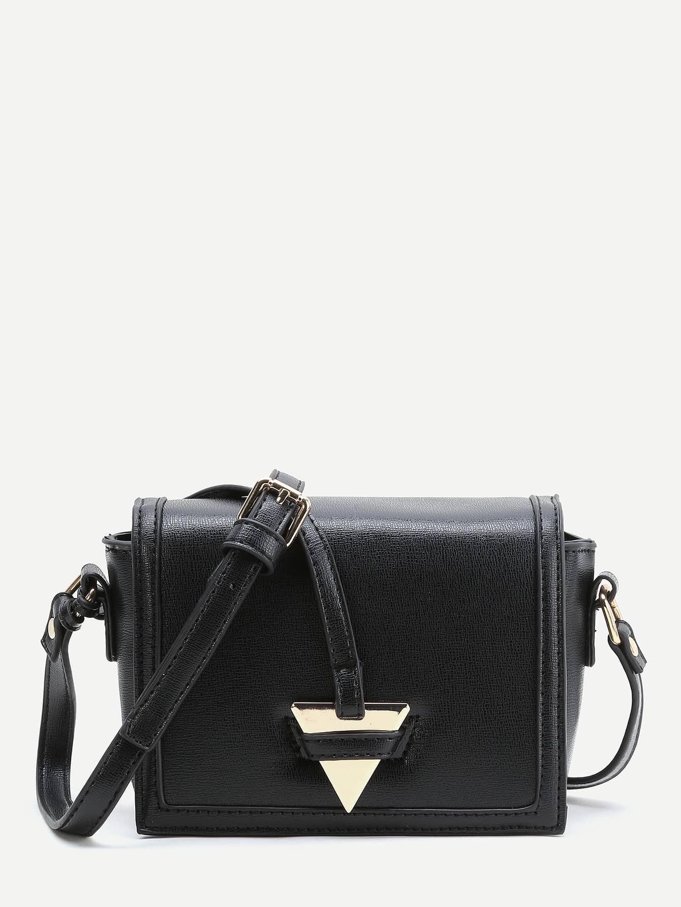 Фото Triangle Detail PU Crossbody Bag. Купить с доставкой