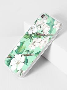 Flower And Leaf Print iPhone 7 Case