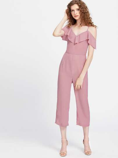 Cami Correas Ruffle Trim Jumpsuit