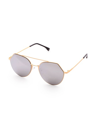 Double Bridge Grey Lens Sunglasses