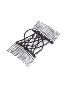 Random Color Beaded Design Hair Comb 1PCS