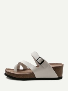 Chaussures à talons blanc