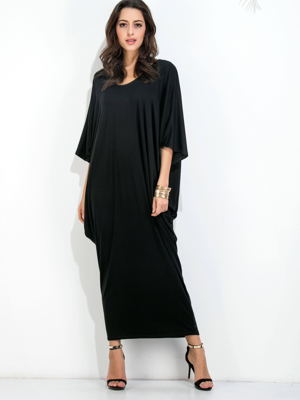 Фото Dolman Sleeve Cocoon Maxi Tee Dress. Купить с доставкой