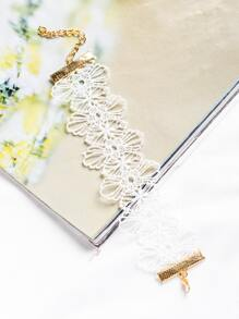 White Flower Hollow Out Boho Bracelet