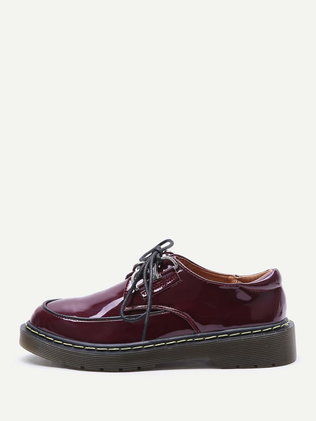 Zapatos de charol con dise o de cordones spanish shein for Diseno de zapatos