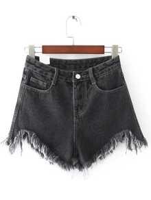 Pantaloncini di jeans , nero