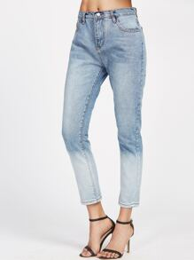 Ombre Blue Ankle Jeans