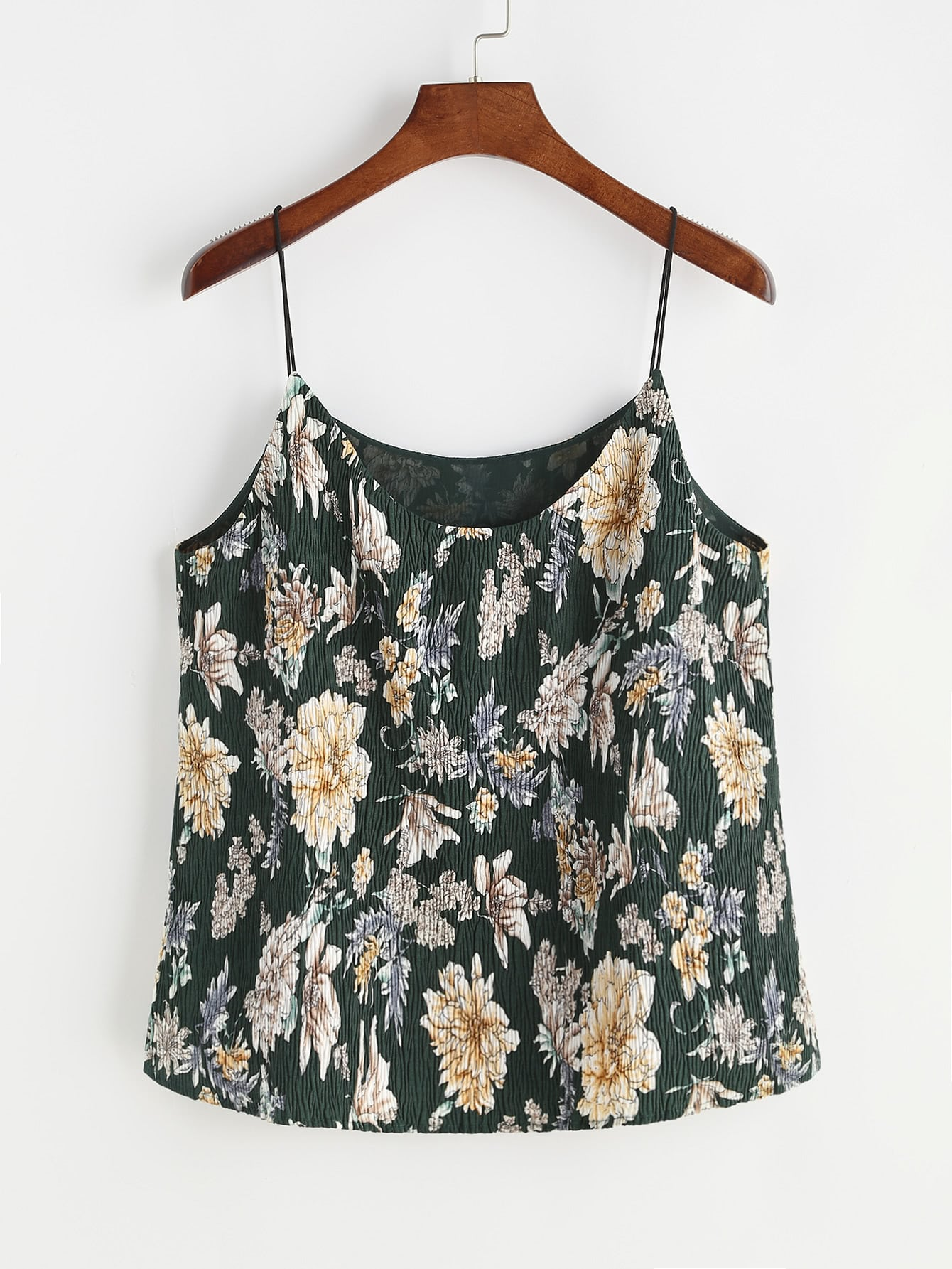 Фото Flower Print Textured Cami Top. Купить с доставкой