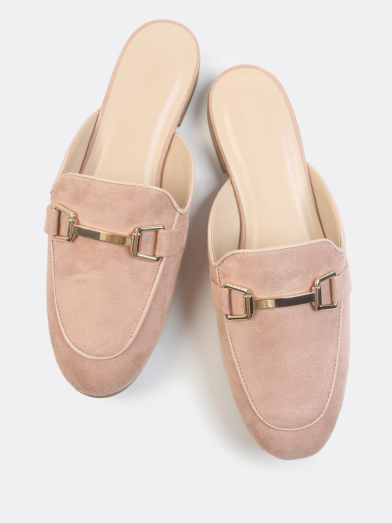 Faux Suede Loafer Slip Ons Mauve Shein Sheinside
