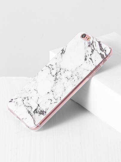 White Marble Pattern iPhone 6plus Case