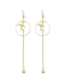 Gold Long Chain Dangle Earrings for Women