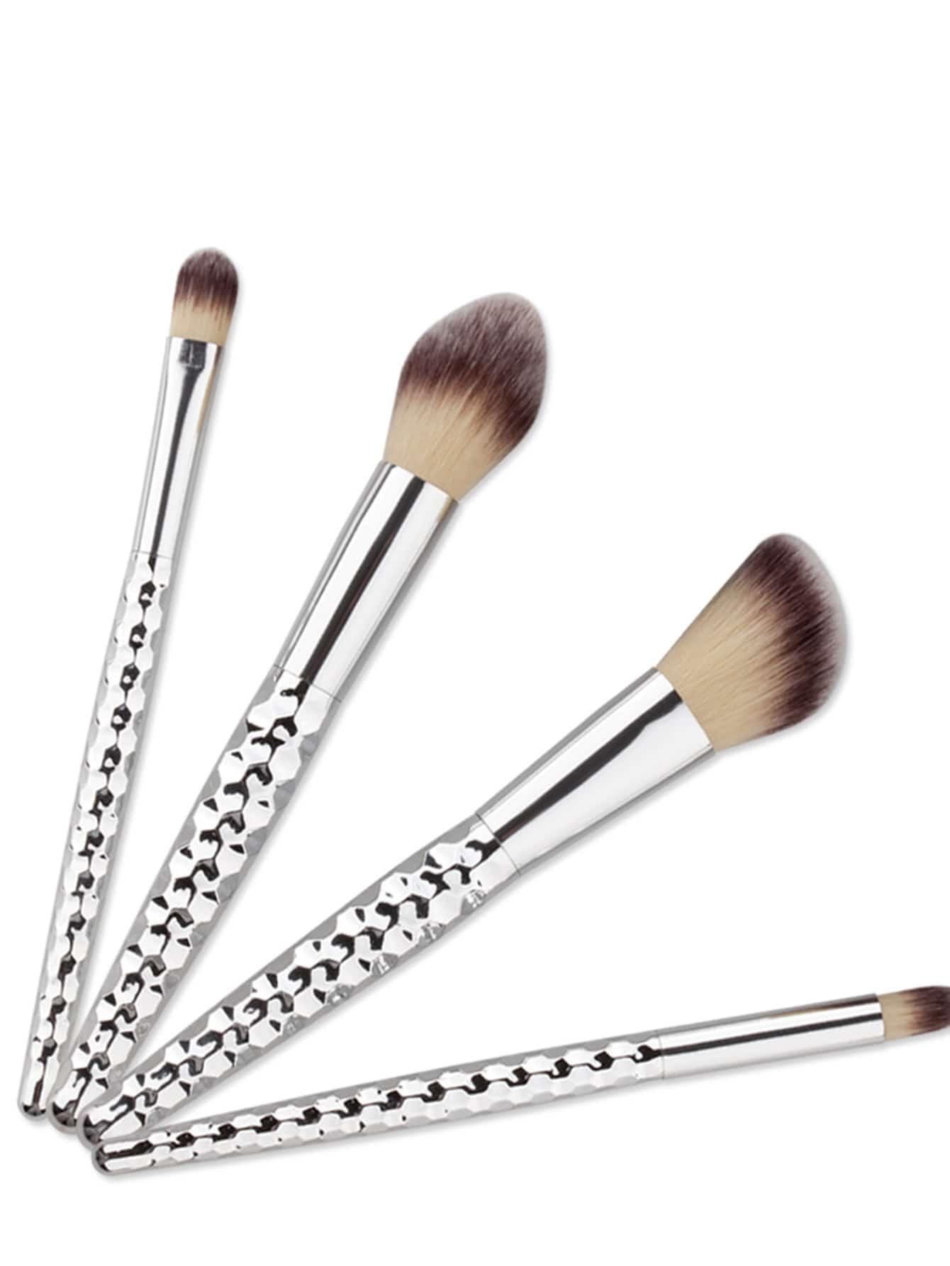 Фото Honeycomb Handle Design Sliver Makeup Brush 4PCS. Купить с доставкой