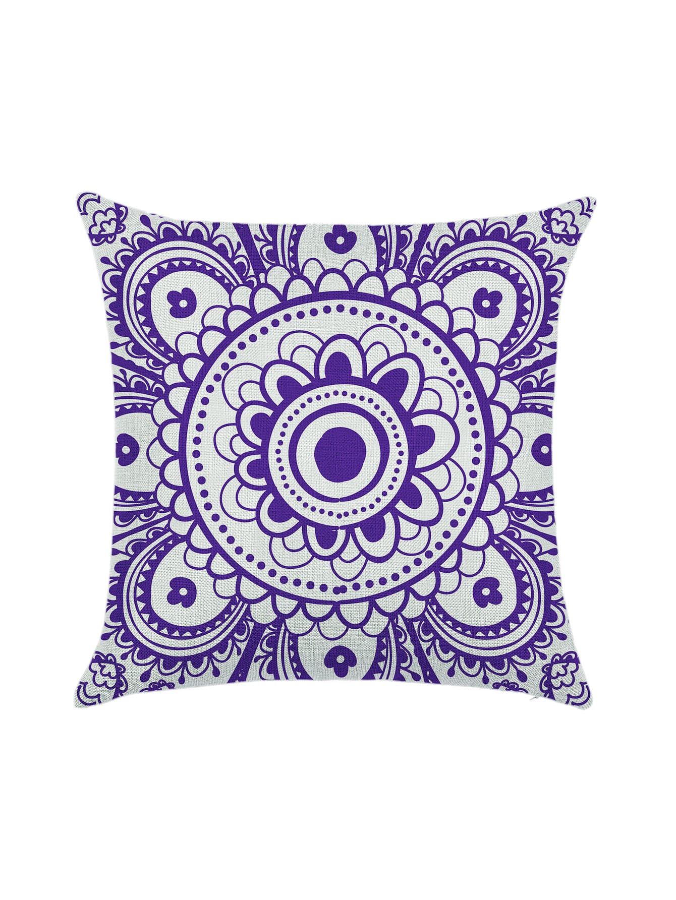 Фото Purple Flower Print Pillowcase Cover. Купить с доставкой