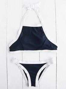 Contrasto Trim Halter Bikini