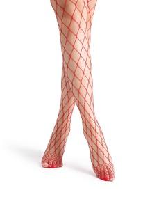 Calcetines sexy en rejilla - rojo