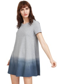 Heather Grey Short Sleeve Tee Dress