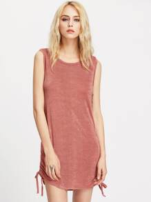 Shirred Side Tank Dress