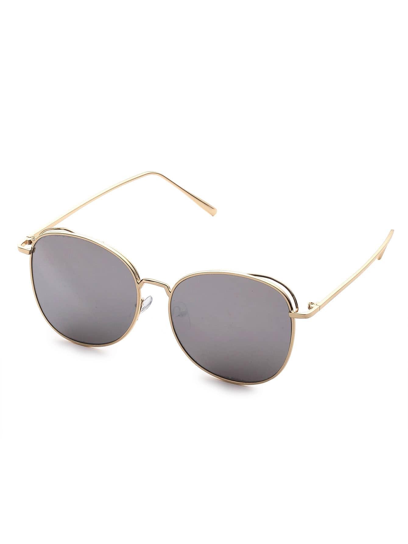 Gold Frame Grey Lens Sunglasses