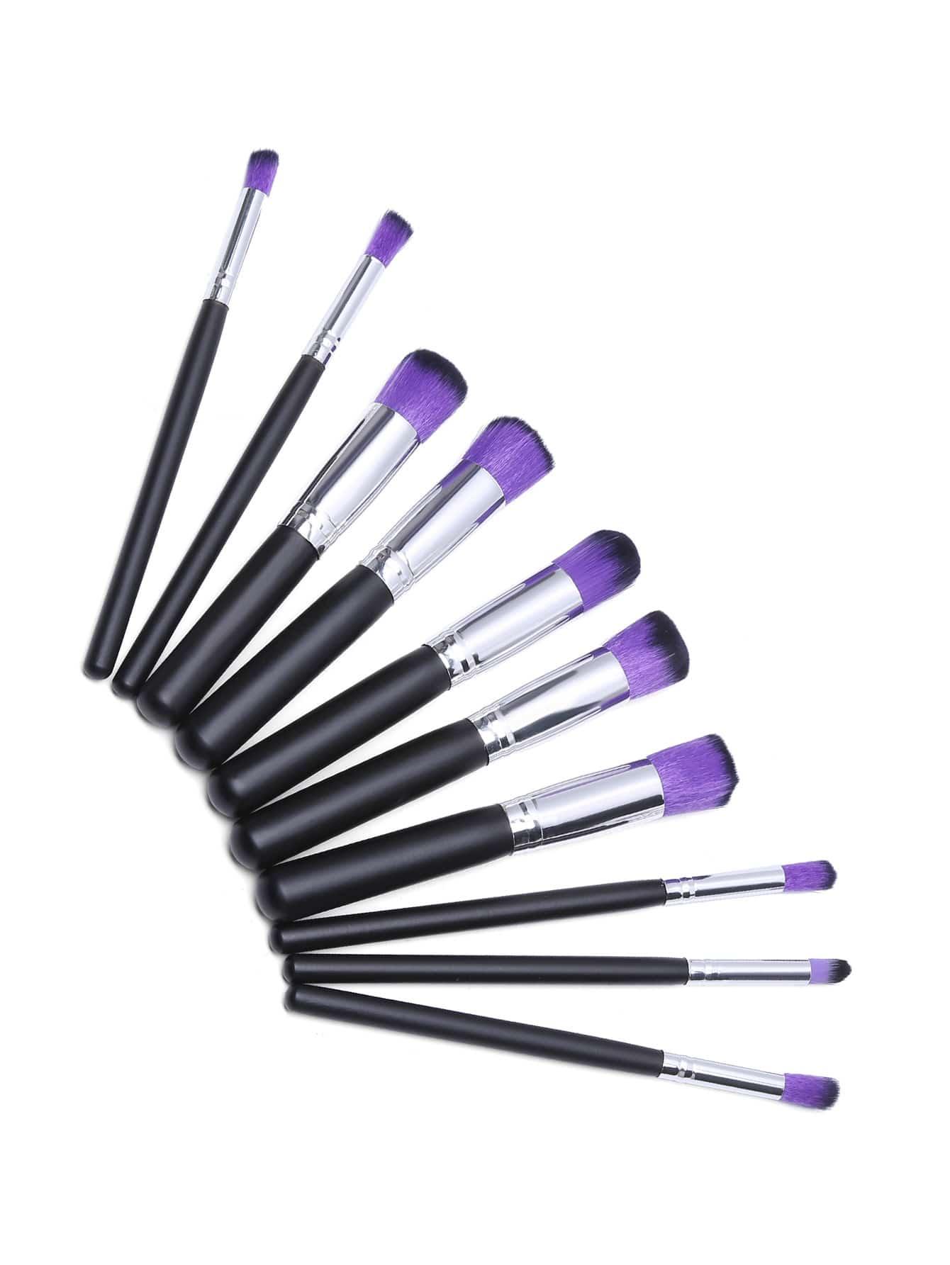 Фото Black And Sliver Professional Makeup Brush Set. Купить с доставкой