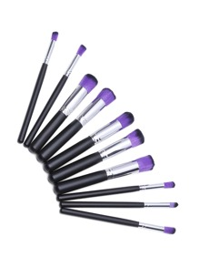 Black And Sliver Professional Makeup Brush Set