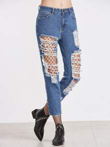 Extreme Distressed Ankle Jeans