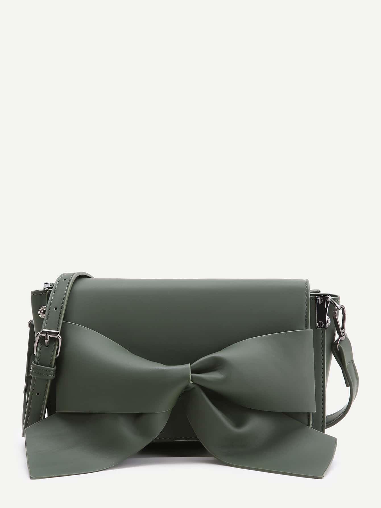 Фото Bow Detail Flap Shoulder Bag. Купить с доставкой
