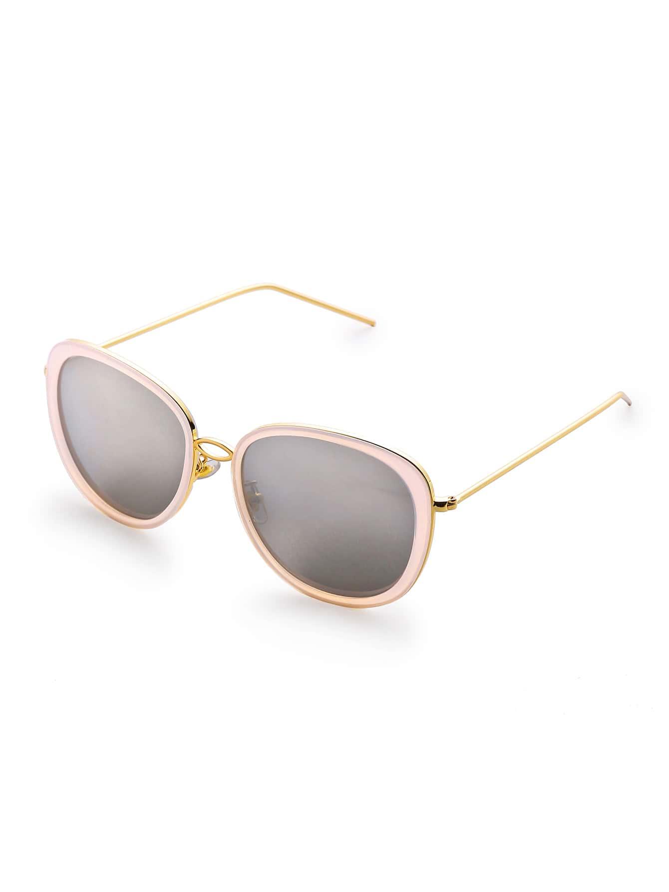 Contrast Frame Aviator Sunglasses sunglass170331305