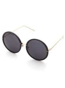 Metallrahmen Runde Linse Sonnenbrille