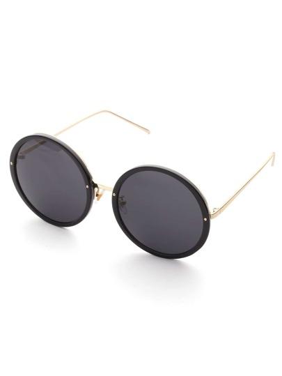 Metal Frame rotonda lente da sole