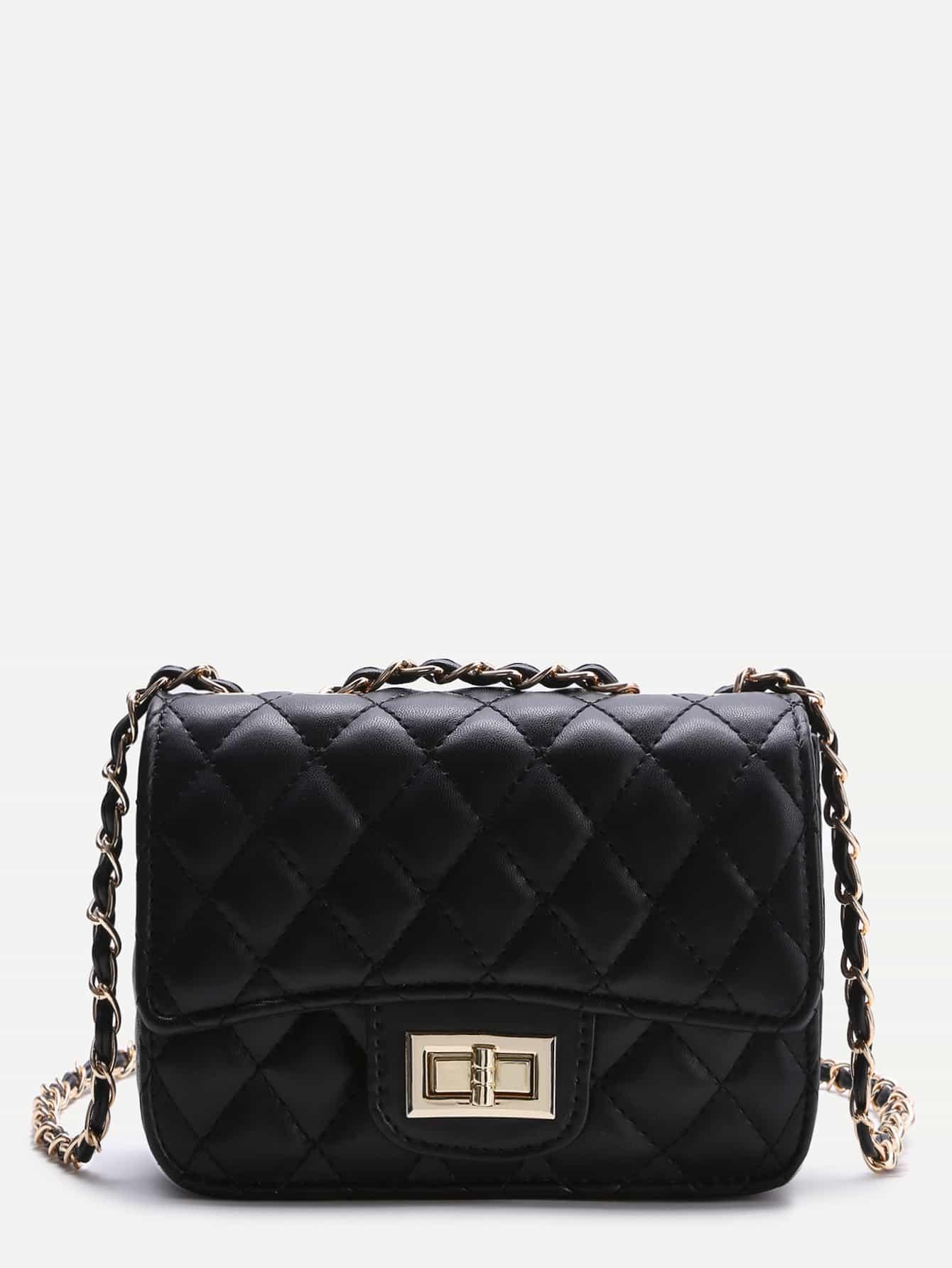 Black Twist Lock Crossbody Bag