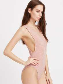 Marled Low Side Ribbed Bodysuit