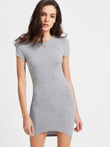 High Low Bodycon Tee Dress