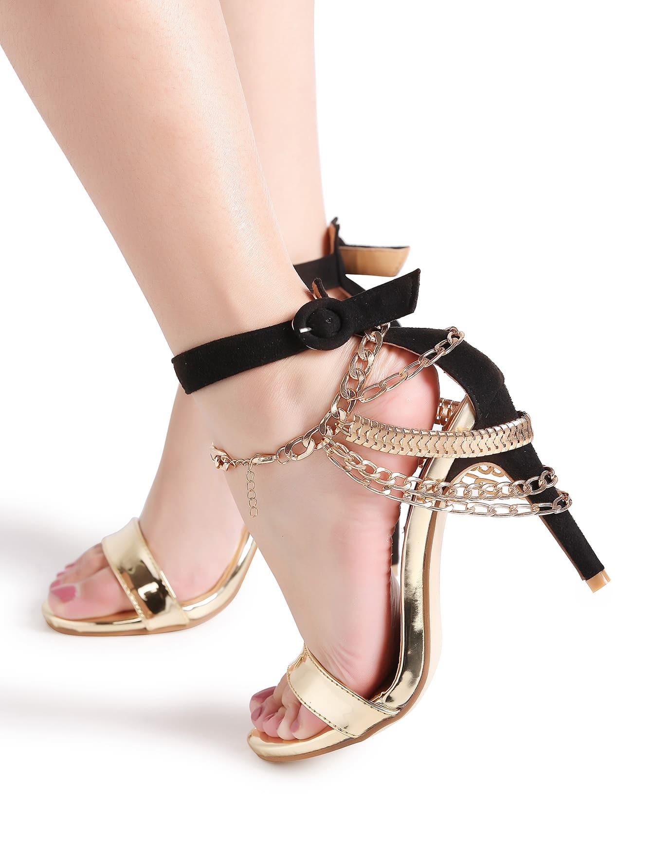 Фото Gold Layered Anklet Chain. Купить с доставкой