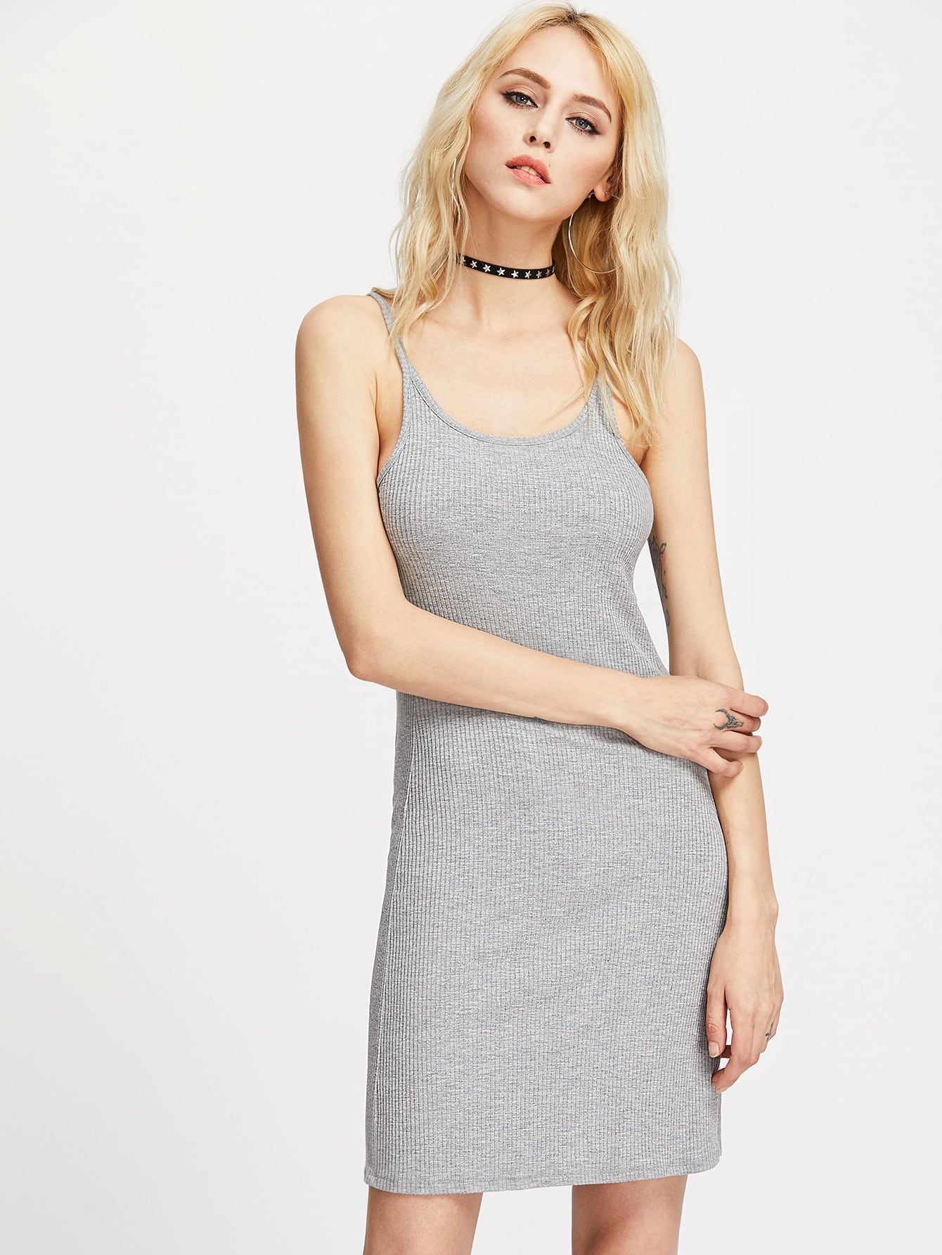 Ribbed Cami Dress dress170403452