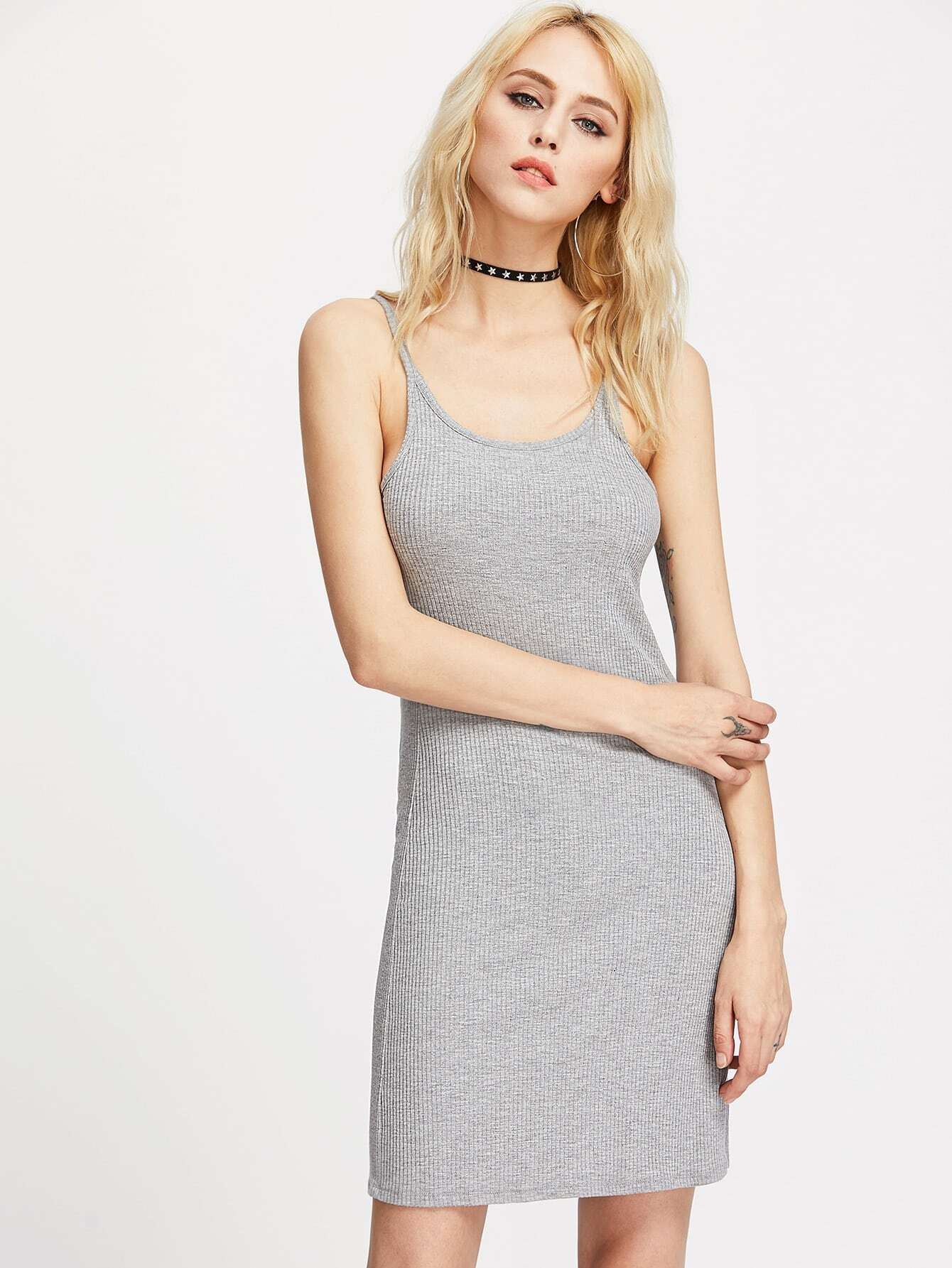 Ribbed Cami Dress dress170403452