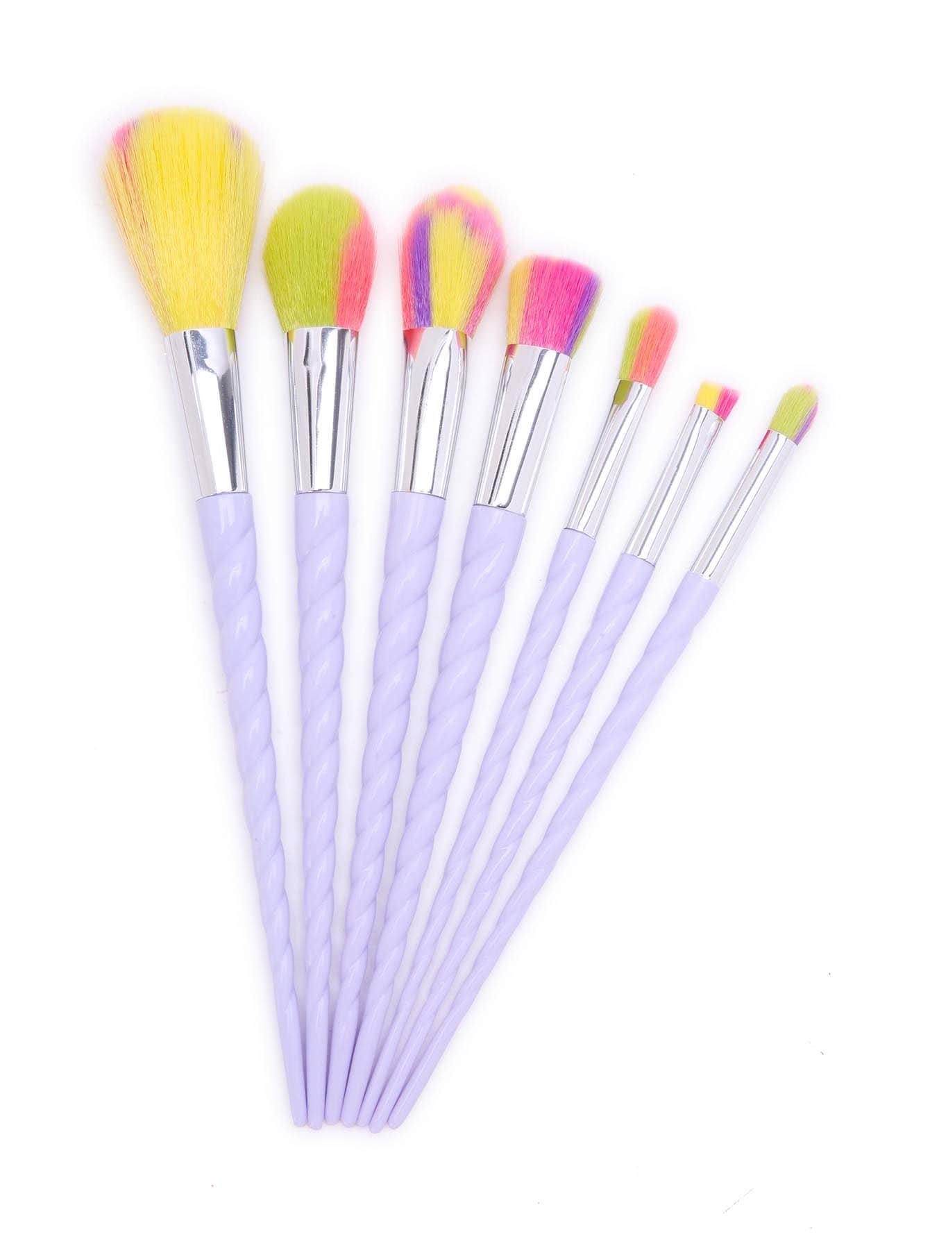 Фото White Screw Handle Makeup Brush 7PCS. Купить с доставкой