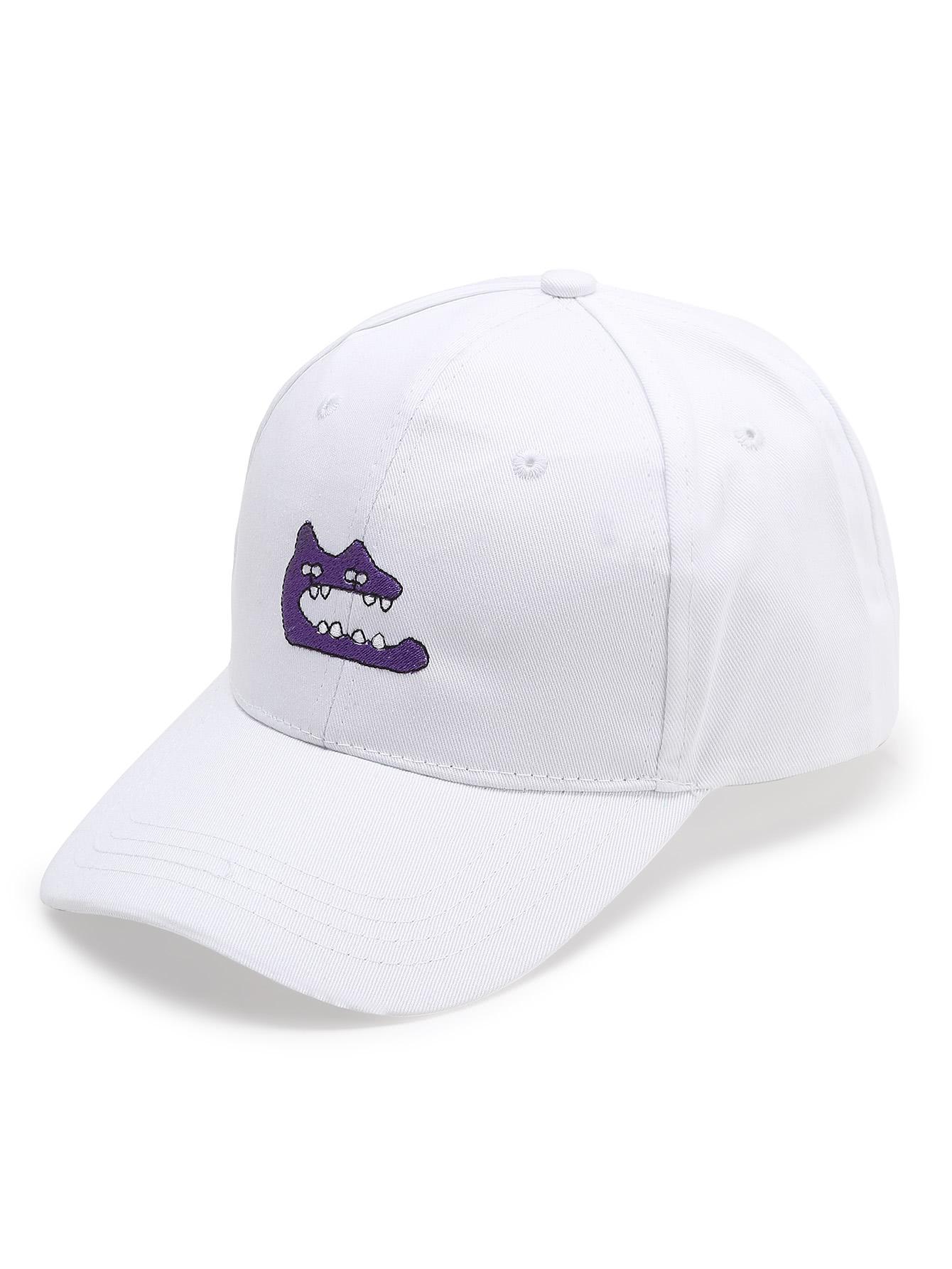 Фото White Embroidery Detail Baseball Hat. Купить с доставкой
