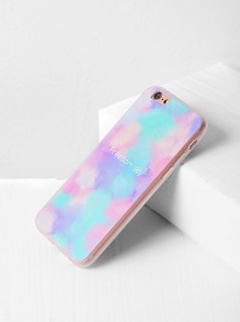 Watercolor And Letter Pattern iPhone 6/6s Case