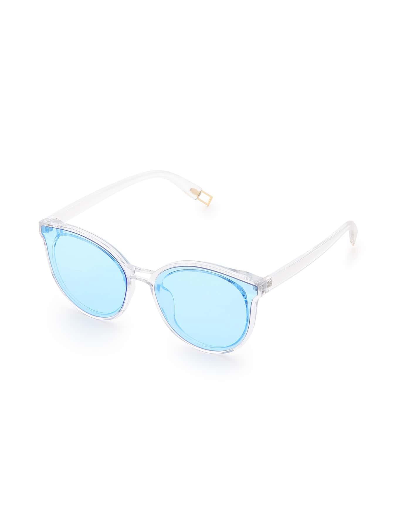 Clear Frame Blue Lens Sunglasses sunglass170317301