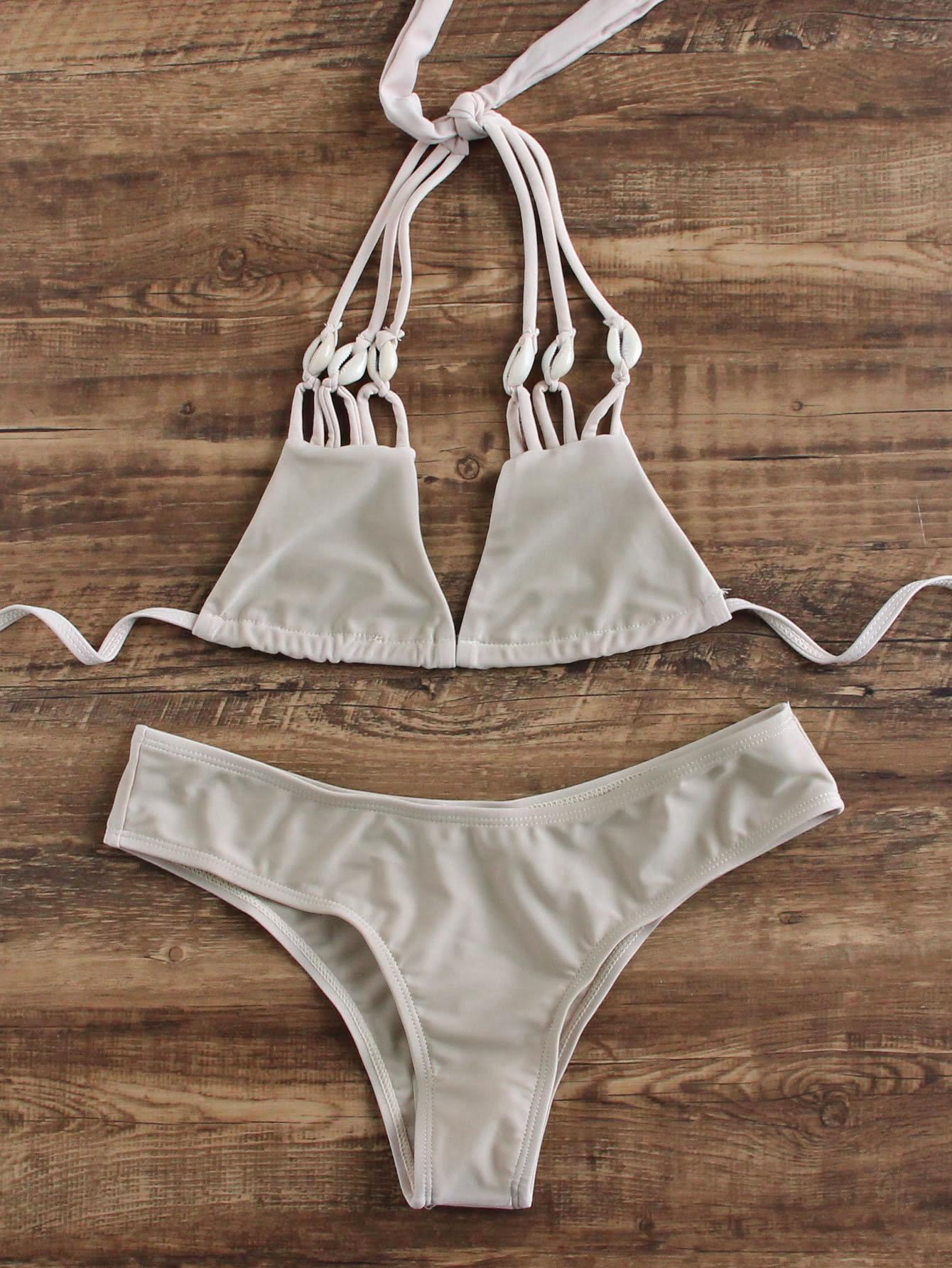 Фото Strappy Triangle Bikini Set. Купить с доставкой