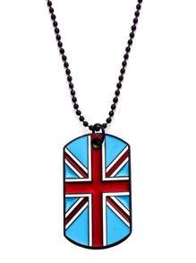 Flag Pendant Beaded Necklace