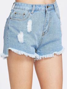 short en jean cassé