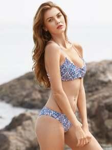 Bikini con stampa mista