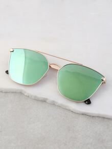 Butterfly Gradient Sunglasses GREEN MULTI