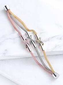 Strati braccialetto di corda di cristallo multicolore Dettaglio