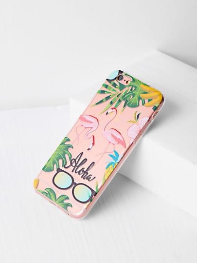Flamingo And Sunglasses Print iPhone 6/6s Case