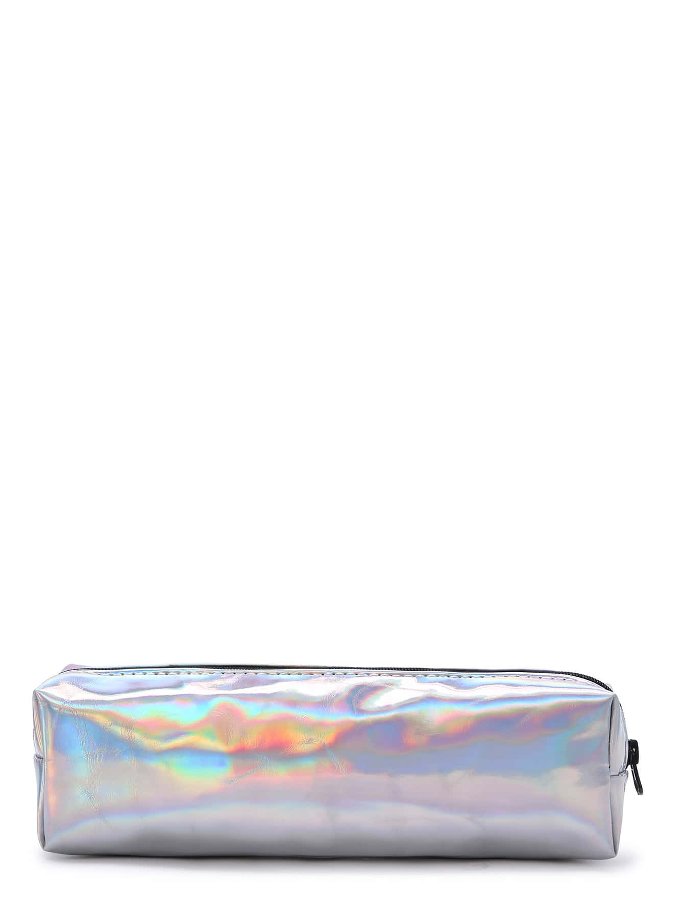 Bright Silver Makeup Case -SheIn(Sheinside)