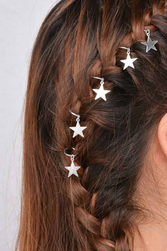 Star Shaped Hair Ring Set, null